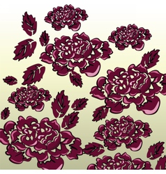 Black roses background isolated vector image