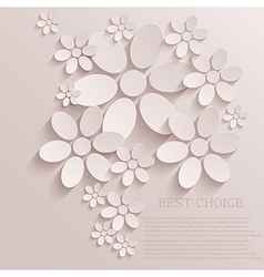 flower background Eps10 vector image