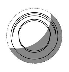 Dish icon image vector
