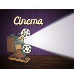 Doodle cinema projector vector