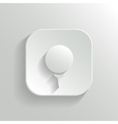 Golf icon - white app button vector