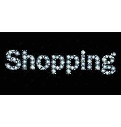 Diamond word shopping vector