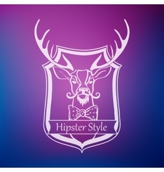 Hipster style label vector