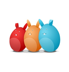 Three eggs - rabbits vector