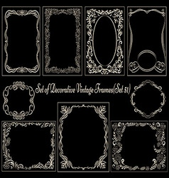Decorative vintage set on blackboard vector