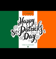 Saint patricks day background with flag of ireland vector