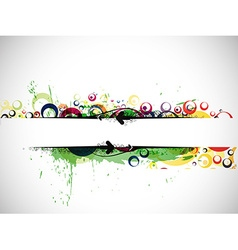 Abstract colorful banner background vector image