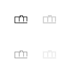 apartment plan black and grey set icon vector image vector image