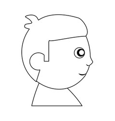 Baby child son head outline vector