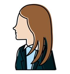 Businesswoman profile avatar character vector