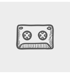 Cassette tape sketch icon vector image