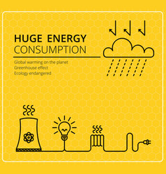 Creative yellow background electricity vector image