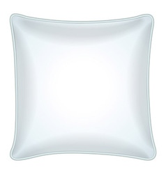 Decorative white throw pillow vector