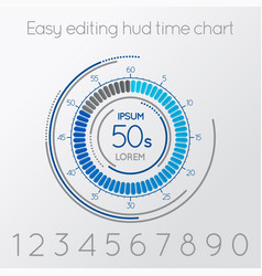 Futuristic digital time easy editing scale vector