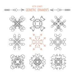 geometry symbols and elements set vector image vector image