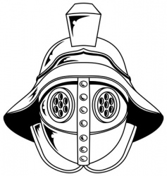 gladiator helmet illustration vector image vector image