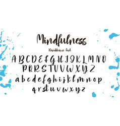 Hand drawn alphabet calligraphy letters vector