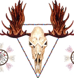 Moose skull pattern vector