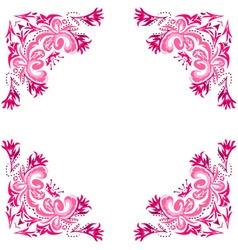 ornate pink frame vector image