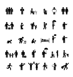 people in various poses vector image vector image