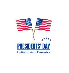 presidents day on usa flag vector image