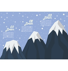 Step of three mountain peak infographic vector