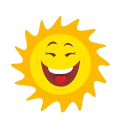 Sun with smile vector