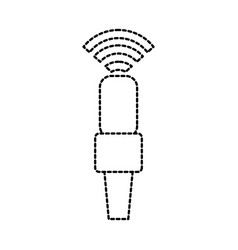 Wifi microphone podcast connection electrical vector