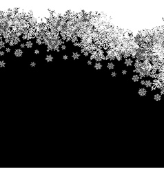 Snowflakes white border silhouette up line isolate vector