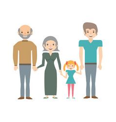 Portrait people family happiness vector