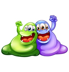 Two happy monsters vector image