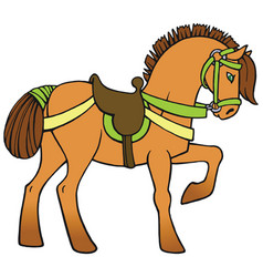 Colorful horse vector
