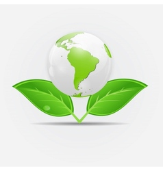 Green eco planet concept vector image