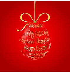 Hanging glass egg made of Happy Easter vector image