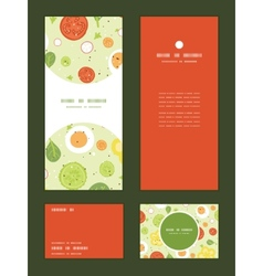 Fresh salad vertical frame pattern vector