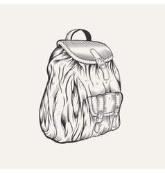 It is an of backpack vector