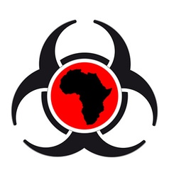 Virus warning sign icon vector