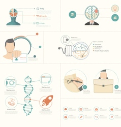 Infographics elements for slide presentations vector