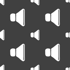 Volume sound icon sign seamless pattern on a gray vector