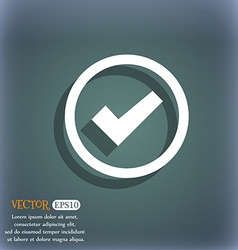 Check mark sign icon confirm approved symbol on vector