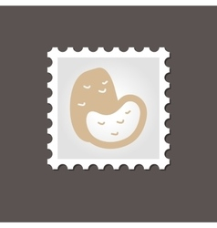 Potato stamp outline vector