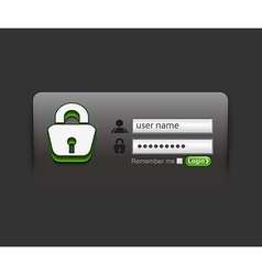 Login template vector