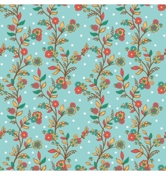 Retro romantic floral background with flowers vector