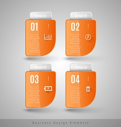 Business infographics template for websites vector