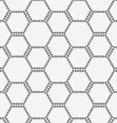 Perforated paper with hexagons forming bee grid vector