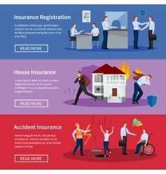 Personal and house insurance banners set vector