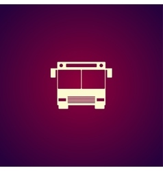 Bus icon flat design style vector