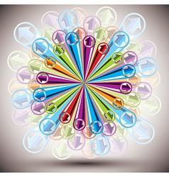 Color arrows explosion vector image