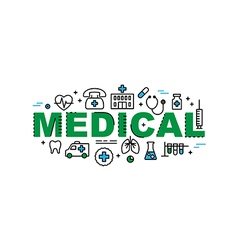 Medical banner health and medicine industry vector