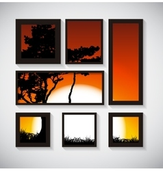 Abstract Gallery Background with Silhouette of vector image